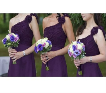 Green and Purple Bridesmaid Bouquet in Freehold NJ, Especially For You Florist & Gift Shop
