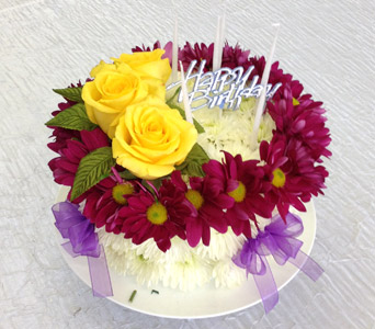Images Of Birthday Cake With Bouquets : Birthday flowers for him or her New City florist Bassett ...