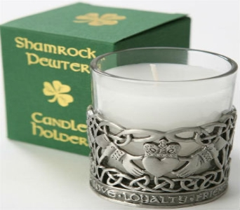 Claddagh Pewter Candle Holder in Royal Oak MI, Irish Rose