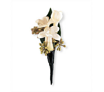 Stephanotis Boutonniere in Asheville NC, The Extended Garden Florist