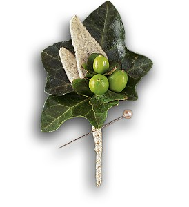Mixed Foliage Boutonniere in Chicago IL, Prost Florist