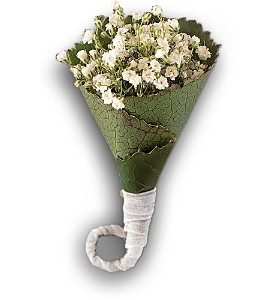 Rolled Gypsophila Boutonniere in Olean NY, Mandy's Flowers
