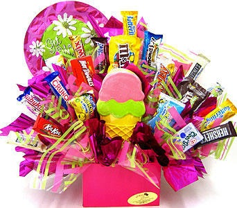 "CB287 ""Sweet Wishes"" Candy & Cookie Bouquet in Oklahoma City OK, Array of Flowers & Gifts"