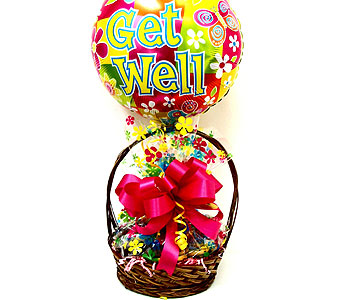"COOKIE27  ""Get Well"" Cookie Basket in Oklahoma City OK, Array of Flowers & Gifts"