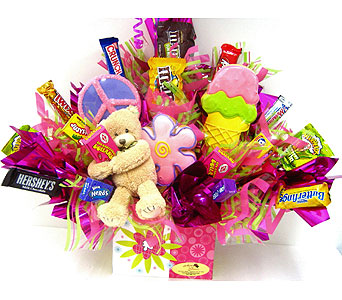 "CB290  ""Sweet Hugs"" Candy & Cookie Bouquet in Oklahoma City OK, Array of Flowers & Gifts"