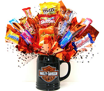 "CB292  ""Harley Davidson"" Candy Bouquet in Oklahoma City OK, Array of Flowers & Gifts"