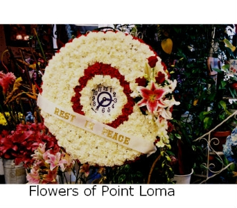 Clock in San Diego CA, Flowers Of Point Loma