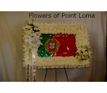 Portuguese Flag in San Diego CA, Flowers Of Point Loma
