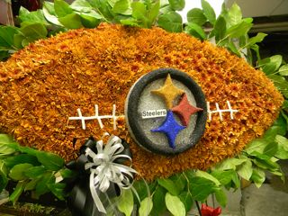 Steeler's Specialty Funeral Piece in New Milford NJ, Denis Flowers