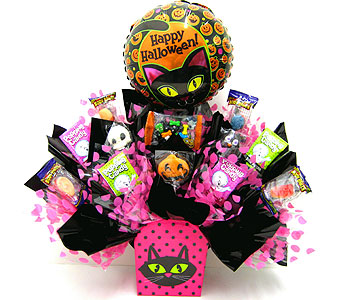 "HCB237 ""Cat Eyes"" Halloween Candy Bouquet in Oklahoma City OK, Array of Flowers & Gifts"