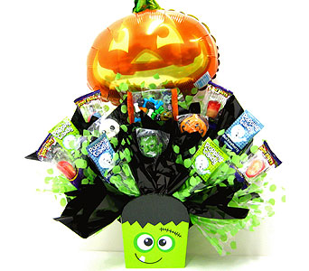 "HCB238 ""Frank-N-Sweets"" Halloween Candy Bouquet in Oklahoma City OK, Array of Flowers & Gifts"