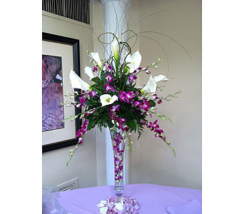 Purple Centerpiece in Staten Island NY, Sam Gregorio's Florist