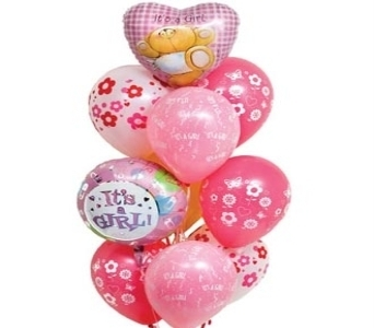 Baby Girl Balloon Bouquet in Surrey BC, Surrey Flower Shop