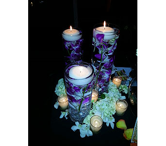 Purple Orchid Cylinder in Staten Island NY, Sam Gregorio's Florist