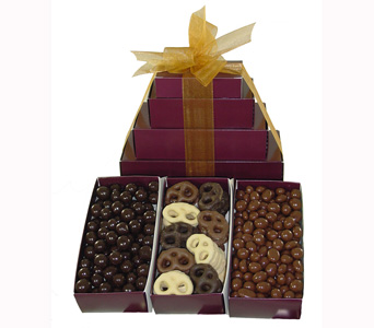 Gift Tower of Chocolate Specialties in Baltimore MD, Raimondi's Flowers & Fruit Baskets