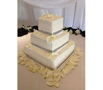 Square Cake With Rhinestones In El Paso Tx Angie S Flowers