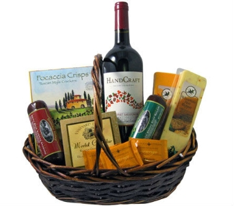 Deluxe Wine & Gourmet Basket in Cleves OH, Nature Nook Florist & Wine Shop