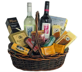 Premium Wine & Gourmet Basket in Cleves OH, Nature Nook Florist & Wine Shop