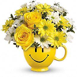 Be Happy Bouquet With Roses in Jacksonville FL, Jacksonville Florist Inc