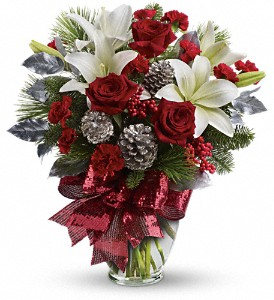 Holiday Enchantment Bouquet in Bakersfield CA, White Oaks Florist