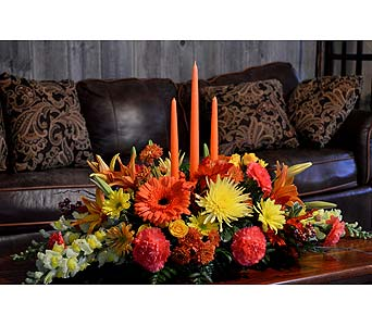 Premium Give Thanks Centerpiece in Utica NY, Chester's Flower Shop And Greenhouses