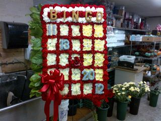 Bingo Board Specialty Funeral Piece in New Milford NJ, Denis Flowers