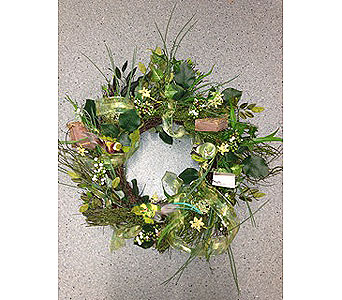 MIsty Greens Wreath in Oakland CA, J. Miller Flowers and Gifts