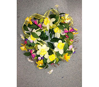 Spring BEcomes You Wreath in Oakland CA, J. Miller Flowers and Gifts