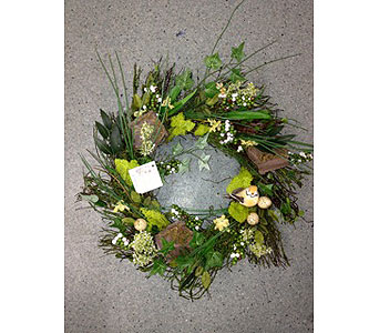 Gentle Forest Wreath in Oakland CA, J. Miller Flowers and Gifts