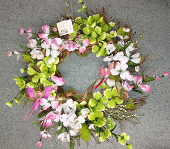 Dogwood Sparkles Wreath in Oakland CA, J. Miller Flowers and Gifts