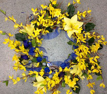 CAL Bears at the Door Wreath in Oakland CA, J. Miller Flowers and Gifts