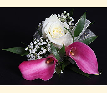 Corsage 2Mini Calla, 1Lg Rose in Southampton PA, Domenic Graziano Flowers