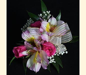 Corsage 3 Spray Rose, 3 Alstromeria in Southampton PA, Domenic Graziano Flowers