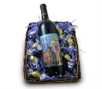 Henke Cin Zin & Chocolate Basket in Cleves OH, Nature Nook Florist & Wine Shop