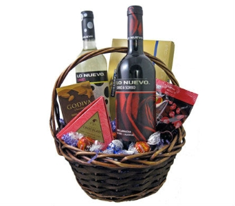 Super Wine & Chocolate Lovers Basket in Cleves OH, Nature Nook Florist & Wine Shop