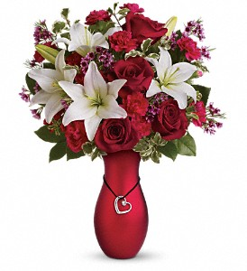 Heartstrings Bouquet by Teleflora in Kalamazoo MI, Ambati Flowers