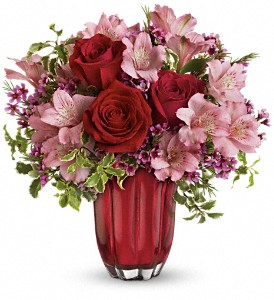 Heart's Treasure Bouquet by Teleflora in Palos Heights IL, Chalet Florist