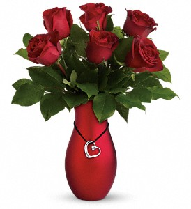 Passion's Heart Bouquet by Teleflora in Silver Spring MD, Colesville Floral Design