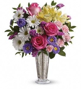 Smile And Shine Bouquet by Teleflora in Redwood City CA, A Bed of Flowers