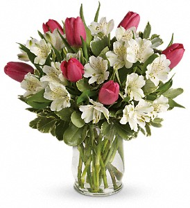 Spring Romance Bouquet in Santa Claus IN, Evergreen Flowers & Decor