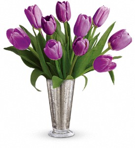 Tantalizing Tulips Bouquet by Teleflora in Dawson Creek BC, Schrader's Flowers (1979) Ltd.