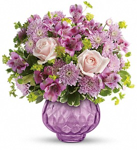 Teleflora's Lavender Chiffon Bouquet in Northridge CA, Flower World 'N Gift