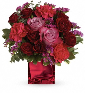 Teleflora's Ruby Rapture Bouquet in Hartland WI, The Flower Garden