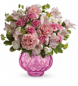 Teleflora's Simply Pink Bouquet in The Woodlands TX, Rainforest Flowers
