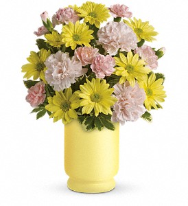 Teleflora's Bright Day Bouquet in Redwood City CA, A Bed of Flowers