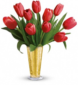 Tempt Me Tulips Bouquet by Teleflora in Rochester NY, Red Rose Florist & Gift Shop
