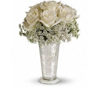 White Lace Centerpiece in Norristown PA, Plaza Flowers