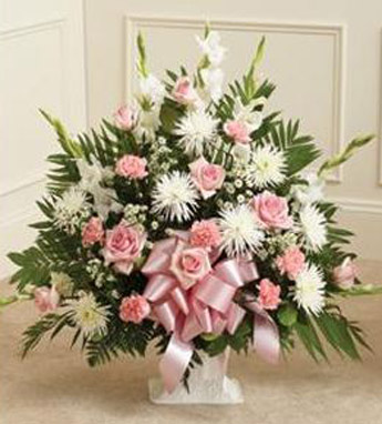 Funeral Mache in Pink and White in Scranton PA, McCarthy Flower Shop<br>of Scranton