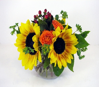 Huddart Sunset Bubble Bowl Bouquet in Salt Lake City UT, Huddart Floral