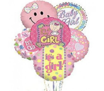 It''s a Girl Balloon Bouquet in Columbus OH, OSUFLOWERS .COM